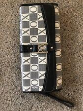 XOXO Black/White/Grey Checkerboard Clutch Bag Handbag