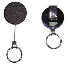 Pesante YoYo metallo 43 mm nero anello portachiavi e filo in acciaio