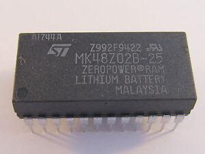 MK48Z02B25 -  STM CMOS 2Kx8 Zero Power SRAM 250ns
