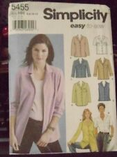 Simplicity Misses' 5 SHIRTS #5455 PATTERN Size 6 8 10 12 UNCUT SLEEVE VARIATIONS