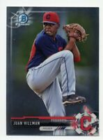 2017 Bowman Chrome JUAN HILLMAN Rookie Card RC BCP145 Cleveland Indians PROSPECT