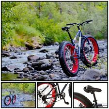 7 Speed Mongoose 26 Inch Fat Tire Bike Oversized Cruiser Bicycle Men Boys Beach