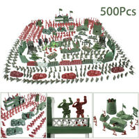 500pcs Plastic Military Playset Toy Soldiers Army Men 4cm Figures&Accessories