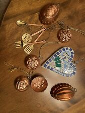 copper collered and other ornaments
