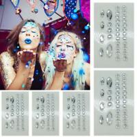 Glitter Jewel Adhesive Sticky Tattoo sticker Face Gems Party Makeup Wedding NEW