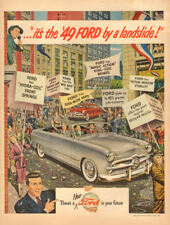 1948 Classic Car AD New '49 FORD , Art cars in ticker tape parade 122817