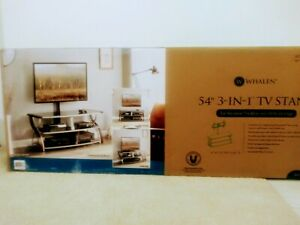 TV stand 54 inch. For 65 inch Flat panel style TV. New in box item. Never opened