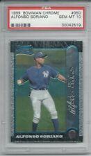 1999 Bowman Chrome #350 Alfonso Soriano RC PSA 10 Gem Mint New York Yankees