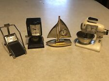 New ListingLot of 4 Timex Miniature Collector Clocks Sailboat, Coffee Pot, Mixer, Treadmill