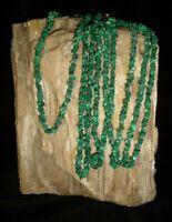 Malachite Necklace Polished Beaded Gemstones Reiki Crystal