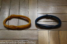 2 Mt BLUE & YELLOW GUITAR ELECTRIC 22 AWG VINTAGE CLOTH COVERED WIRE -