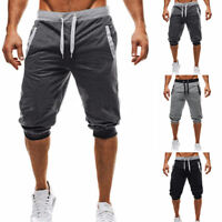 Summer Men's 3/4 Knee Casual Jogger Gym Sports Shorts Baggy Harem Pants Trousers