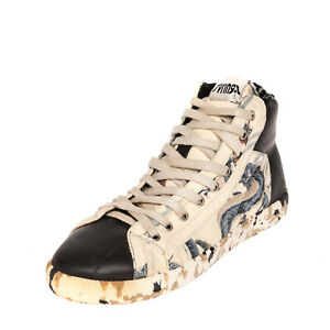 RRP €130 SPRINGA Sneakers EU 39 UK 5 US 6 Patterned Lace Up HANDMADE in Italy