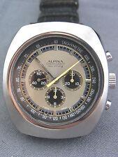 Armband-Chronograph Alpina Sea-Strong Stahl Lemania 873 ca.70er Jahre