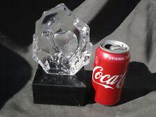 Mats Jonasson Crystal Bald Eagle Sculpture /Statue/ FigurineOn stone Base
