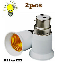 2pcs Bayonet BC B22 to ES E27 Socket Converter Lamp Base Adapter Light Converter