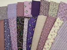 Lot Vintage Cotton Quilt Fabric ALL Lavender Purple Print Quilters Material Sew