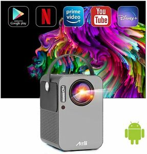 Smart Projector Artlii Play Portable Bluetooth Projector 4K supported WiFi HD