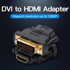 Vention DVI to HDMI 24+1 Stecker zu Buchse Adapter 1080P für HDTV BOX Beamer PC