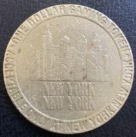 NEW YORK NEW YORK HOTEL & CASINO Las Vegas Nevada $1 Gaming Token Used 1997