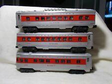 lionel red stripe 027 passenger set 2442, 2444, 2446 postwar