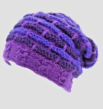 NEW THERMAL LINED NEPAL WOOL BEANIE HAT SKI BEANIE ORIGINAL UNISEX[PURPLE]