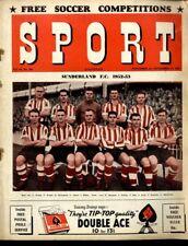 SPORT MAGAZINE VOL14 #254 - SUNDERLAND F.C, ALF RAMSEY, MARCEL GAILLARD