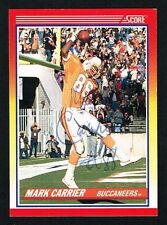 Mark Carrier #604 signed autograph auto 1990 Score Football Trading Card
