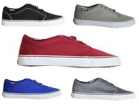 New Mens LAMBRETTA Pulse Canvas Low Top Lace Up Casual Trainers Shoes Footwears
