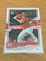 2020 Donruss Optic Baseball Base Card - Mike Trout - Los Angeles Angels