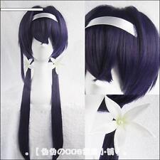 Bungo Stray Dogs Kyouka Izumi Purple Long 2 Ponytails Cosplay Wig With Headwear