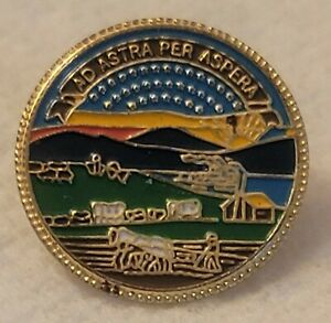 """Vintage Lapel Pin """"AD ASTRA PER ASPERA"""" (THROUGH DIFFICULTIES TO THE STARS) P15"""