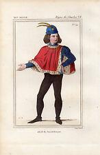 COSTUME DE LA FRANCE XVe siècle / Jean II, Duc d'Alençon