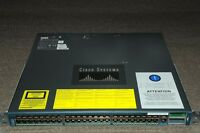 Cisco WS-C4948-10GE-S Catalyst 48 Gig + 10Gb Switch Dual PSU 1YrWty TaxInv