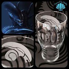 Personalised Alien Pint Glass Gift Handmade & Free Name Engraving! Film Ripley