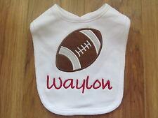 PERSONALIZED MONOGRAM CUSTOM Football Sports Baby Infant Toddler Bib SHOWER GIFT