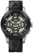 PERRELET Classic Skeleton Chronograph Watch A1056/2 New w/box MSRP $7550.00