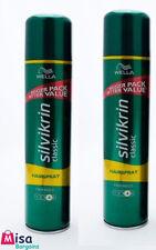 2 x Wella Silvikrin Classic 400ml Hairspray Firm Hold (No 4)