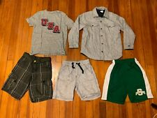 Lot of 5 Pcs Boys: 1pcs T-Shirt, 3pcs Shorts, 1pcs Reversible Jacket