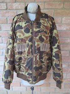 Gently Used COLUMBIA Reversible Camo & Brown Hunting Jacket, Size XL