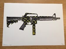 Death NYC - Carbine LV Black/Yellow - Urban/Contemporary/Pop Art Print Large