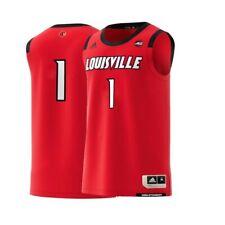 Louisville Cardinals #1 NCAA Adidas Red Official Swingman Basketball Jersey