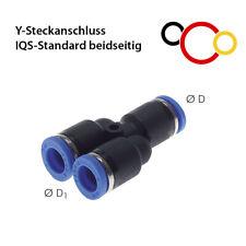 Y-Schlauchverbinder mit PUSH Steckverbindung IQS Steckanschluss Fitting