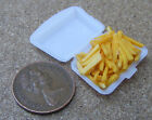 1:12 Scale Take Away Chips - Fries In Plastic Box Dolls House Food Accessory