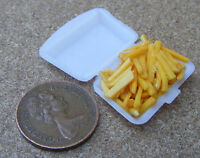 1:12 Take Away Chips - Fries In Plastic Box Dolls House Miniature Food Accessory