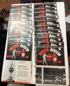 vintage Manchester United 1960s HOME PROGRAMMES x 21 job lot Law Best Charlton