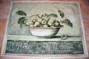 Bowl of Pears ~ European Pear (Pyrus Domestica) Grande Tapestry Wall Hanging