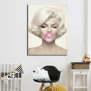 Monroe Poster Painting Printed Modern Famous Actress Portrait Wall Art Graphic