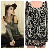 A'Reve Anthropologie Women's Size Small Bottom Two Layered Laced Top