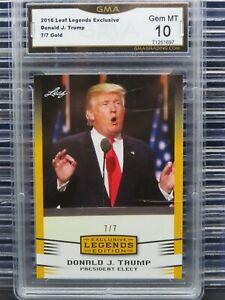 2016 Leaf Legends Donald J. Trump Gold President Elect #7/7 GMA 10 Y417